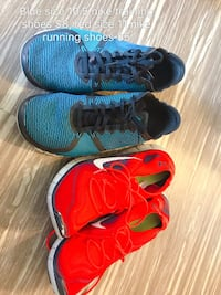 pair of blue and red Nike running shoes St. Louis, 63110