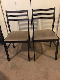Wood chairs $40 a pair in excellent condition smoke pet free home check out my other listings on this page message me if you interested pick up in Gaithersburg md 20877 Gaithersburg, 20877