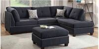 New 2pc black sectional with ottoman  Houston, 77041
