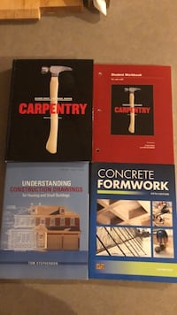 Carpentry textbooks/notebooks. Vancouver, V5N 4Z6