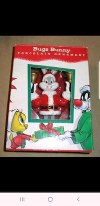 Bugs Bunny Porcelain Ornament Warner Bros. Looney Tunes Christmas Tree Falls Church, 22044