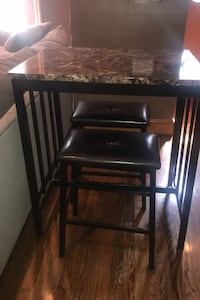 Faux marble Table with two Bar stools Salem, 03079