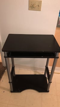 black and gray side table