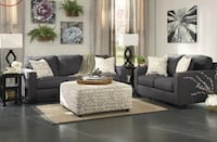 Used New Charcoal Sectional With Pillows For Sale In