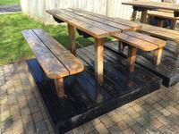 brown and black wooden picnic table London, N5X