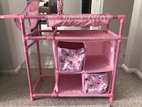Baby doll changing table with highchair