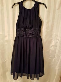women's dark blue sleeveless dress Vaughan