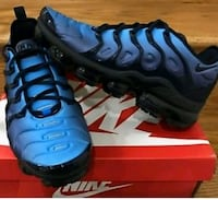 pair of blue Nike Air Foamposite shoes with box Renishaw, S21 3WU