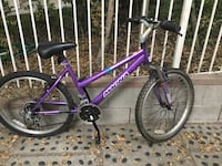 """Purple and black Magna Great Divide  mountain bike with 24"""" wheels  Glendale, 91206"""