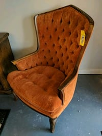 brown wooden framed brown padded armchair Richmond, 23235