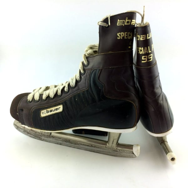 Mens 9 Vintage Bauer Special Pro 99 Ice Hockey Skates Leather Retro St