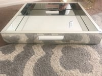 white wooden framed glass top coffee table Las Cruces, 88001