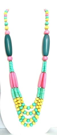 Pastel multi coloured necklace Ontario, L6A 3P3
