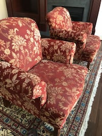 Brown and red floral fabric sofa Gaithersburg