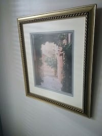 white petaled flower painting with brown wooden frame Longueuil, J4J 3S7