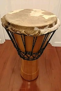 "13"" Djembe with torn skin Langley, V3A 5X1"