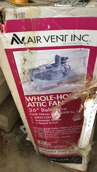 Air vent whole-house attic fan box Howell, 07731