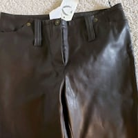 Nwt leather pants boot cut size 32 Thornton