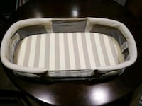 white and gray striped bassinet Chino Hills, 91709