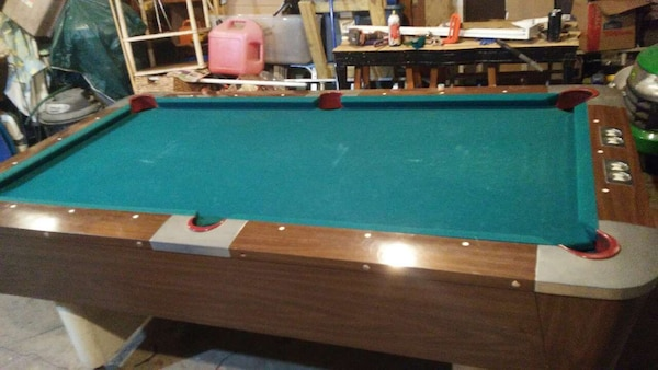 1960 S Valley One Piece Slate Pool Table