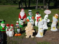 assorted Christmas yard decorations.