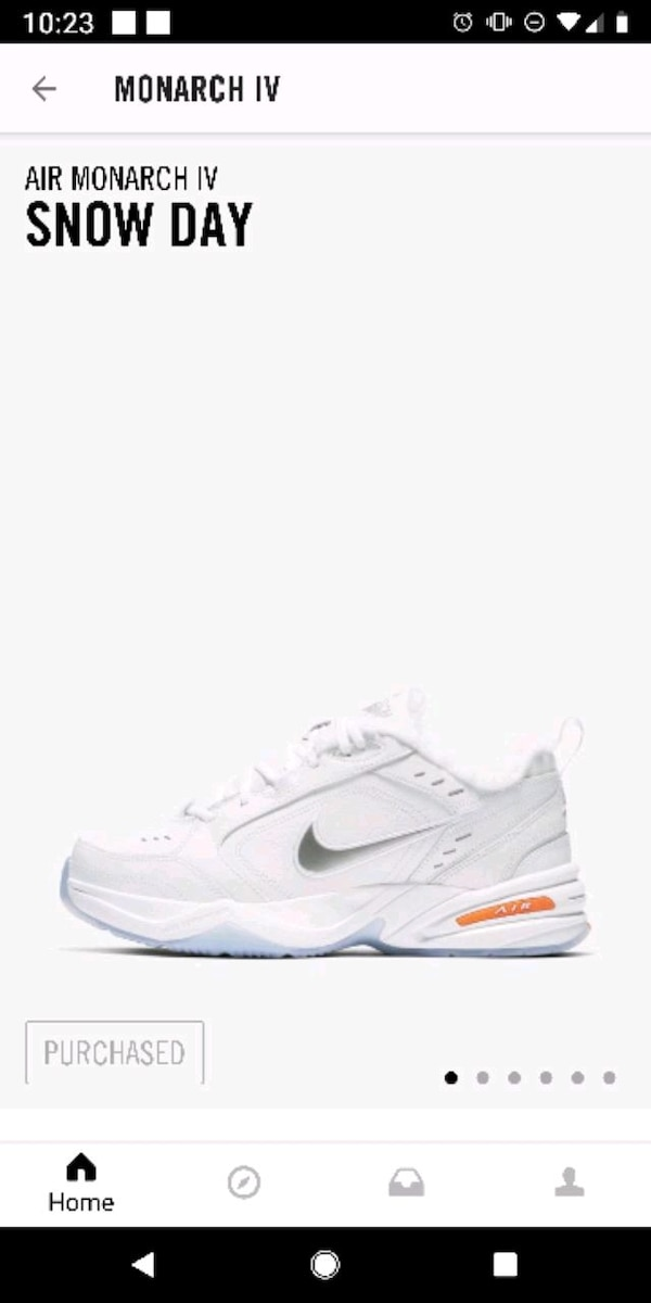 6c9697a51167 Used Nike Air Monarch 4 IV Snow Day All White Size 10 for sale in ...