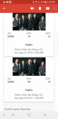 Tickets-Eagles, Zac Brown Band and Doobie Brothers