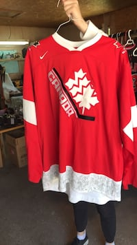 red and white Adidas jersey shirt Calgary, T2K 0R6