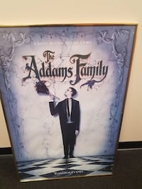Addams family poster with frame