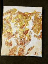 white and brown abstract painting Sussex, 53089