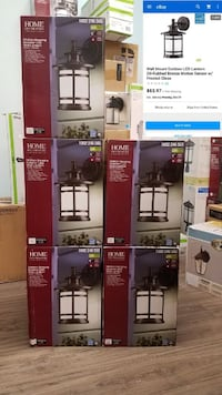 NEW DUST TO DAWN AND MOTION SENSOR OUTDOOR WALL LIGHT FIXTURE LANTERN Houston