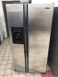 36x70 Ge Profile Arctica stainless steel refrigerator in excellent working condition 100 days warranty  Baltimore, 21222