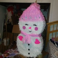 white and pink snowman pinata Fontana, 92335
