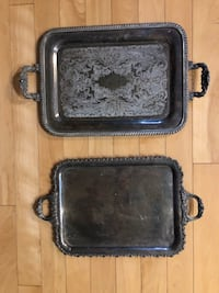 Antique silver platters as is $20 for both or Best Offer Guelph, N1L 1P2