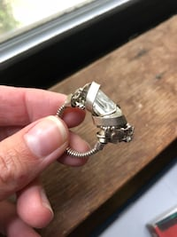 Crystal wire wrap ring Oakland, 94608