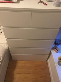 Ikea 6 drawer dresser. Year old, barely used, all drawers in excellent condition.  New York, 10075