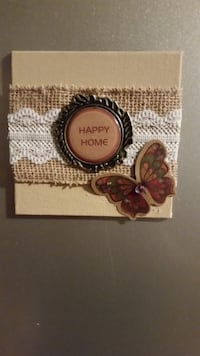 Handmade Canvas covered 4x4 Fridge magnet TORONTO