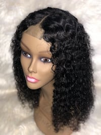 Lace Closure Bohemian Curly Human Hair Wig Pasadena, 21122