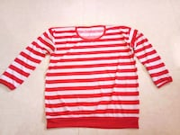 white and red striped long-sleeved shirt Mumbai