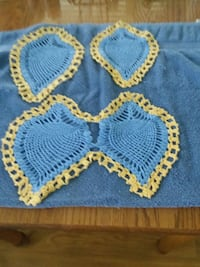two blue-and-yellow knitted textiles Roanoke, 24019
