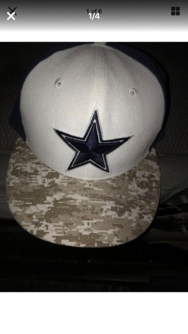 bf9c8038e Used Dallas Cowboys New Era hat cap 7 3 8 Salute To Service Military Camo  Star Very light mArk on side see pic looks like never been worn for sale in  ...