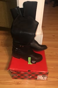 NEW Black Riding Boots Ladies 9M Terry, 39170