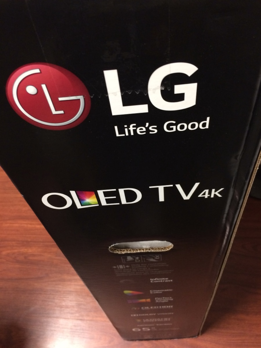 used new and sealed lg 65 oled tv 4k in houston. Black Bedroom Furniture Sets. Home Design Ideas