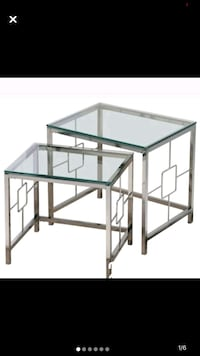 Chrome and glass brand new tables in box Markham, L6B 0G2