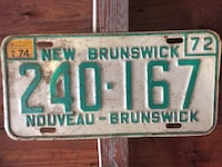 Vintage License Plates Haverstraw, 10927