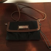 Women's black and brown leather chape sling bag Alexandria, 22312