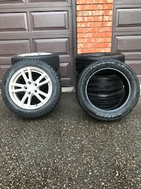 Winter and Summer tires with rims 568 km
