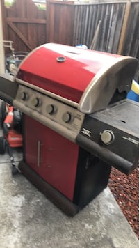 red and gray gas grill 2391 mi