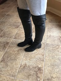 Gucci Women's Black Leather Over Knee Boots  Size 37 1/2 Macomb, 48042