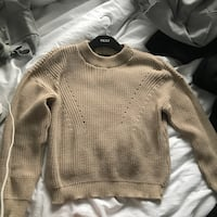Boohoo camel knitted jumper, Size L.  Bristol, BS16 3NH